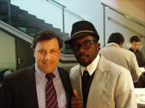 Wil.i.am and Francesco Iarlori at GSMA Mobile World Congress 2009